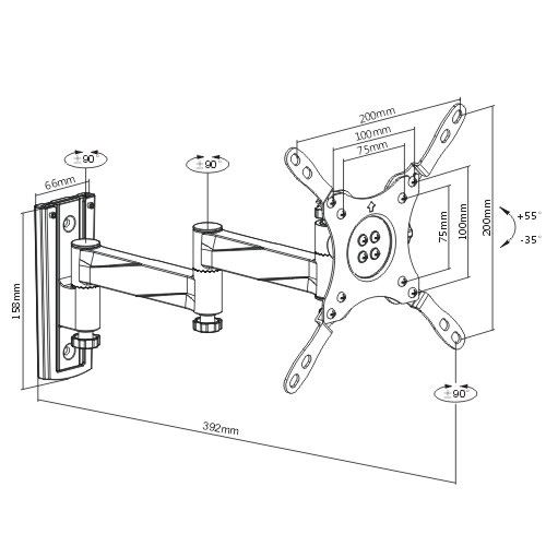 Flat panel wall mounts